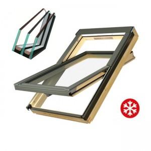 Мансардне вікно, двокамерний склопакет, Fakro FTS-V U4 78*118+EZV=9750,0
