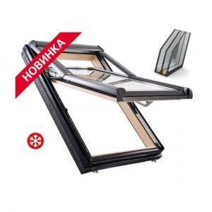 Мансардне вікно, двокамерний склопакет, Roto Designo R79 H WD 74*118+ZIE